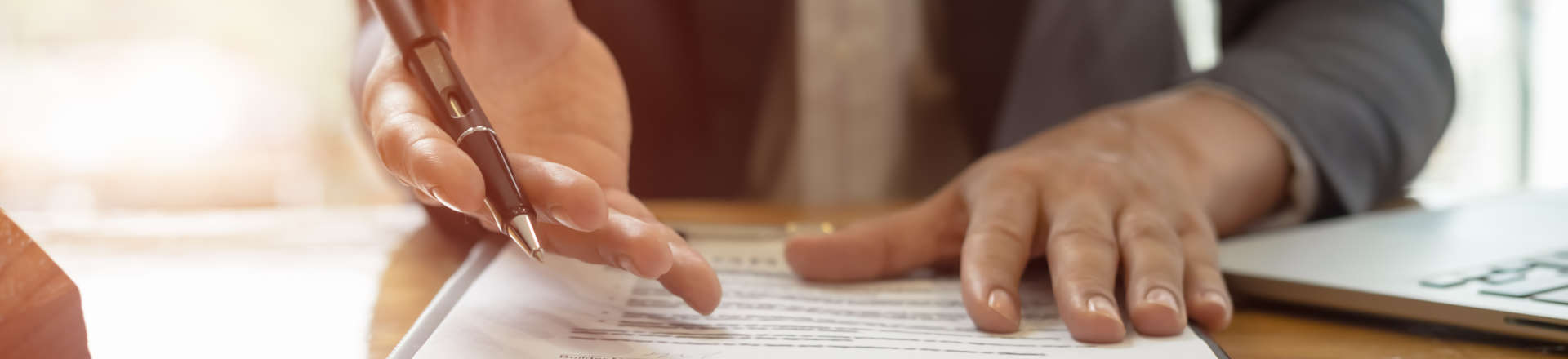 a person presenting documents