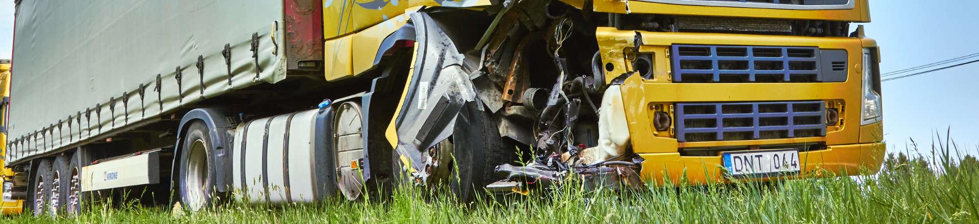 a truck wreck